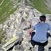 Scendiamo mantenendoci in cresta tornando verso il Passo Andolla.