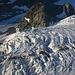 Gezoomte Gletscherspalten auf dem Unteren Theodulgletscher.