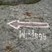 Verblasster Wegweiser zur Windegghütte