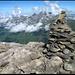 Auf dem Gipfel Vorder Griessstock, im Hintergrund Schächentaler Windgällen.