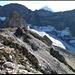 Blick zum unverkennbaren Hinter Griessstock (lässt sich mit leichter Kletterei bezwingen, ich selbst war viel zu faul und bequem an diesem Tag...).