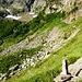 Wichtige Steindame auf dem Weg von der Cascina d'Afata zur Forcarella