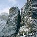 Italia-Trentino Alto Adige-Gruppo Sella- Colfosco in Val Badia- <br />Si vede, anche se piccolo, un Ponte Sospeso tra le rocce- <br /> <br /> Trattasi del famoso ponte sospeso della Ferrata Brigata Tridentina al Pisciadù (2.430 m) che unisce la Torre Exner alla Torre Masores.