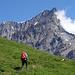 [u Renaiolo] im Aufstieg mit dem Doldenhorn als Hintergrund
