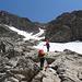 eine letzte recht felsige Steilstufe gilt es zu überwinden