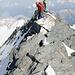 Quasi geschafft - Gipfelgrat Strahlhorn.