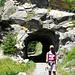 Tunnel auf dem Abschnitt Riedgarten - Bietschtalbrücke