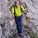 Gut gesicherter Felsweg auf der Ageteplatte