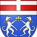 <b>Stemma comunale di Prato Leventina, rappresentato da due cani bracchi d'argento contro-rampanti, collarinati e tenenti un giglio, il tutto d'oro, su fondo azzurro.</b>