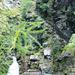 Aufstieg zur Capanna Soveltra - die imposanten Stiegenanlagen in der Schlucht