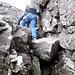 Dann noch ein bisschen leichte Kraxelei durch Rinnen und Kamine...<br />