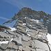 Der Felskopf unmittelbar vor dem Gipfel des Balfrin