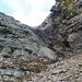 Aufstieg zum Pizzo Barone - durch dieses Couloir steige ich direkt auf den Gipfel