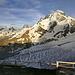 Blick von der Gandegghütte aufs Breithorn