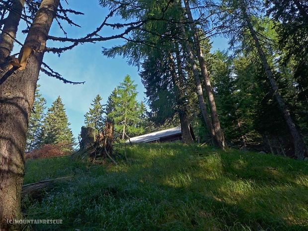 Ziemlich versteckt liegende Jagdhütte