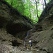 Erster Knackpunkt: Dieser Wasserfall wird direkt im Bachlauf erstiegen