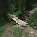 Und noch eine neue Brücke an der Stelle weiter oben, wo das Wasser den Weg weggerissen hatte. Danke an die fleißigen Österreicher! / un`altro nuovo ponte un pò più in alto, dove l`acqua aveva distrutto il sentiero. Grazie agli Austriaci dilligenti!