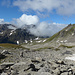 Nufenenstock in Wolken, Chilchhorn Südgipfel frei