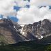 Erster Blick zum Longs Peak rechts und Mount Meeker links