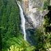 Der Wasserfall im Valle Chironico oberhalb des Parkplatzes