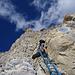 Abstieg über den Klettersteig