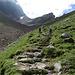 im Aufstieg zum Rotsteinpass