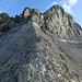 nun auf dem Grat hoch bis zur Kletterei