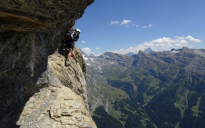 Klettersteig Daubenhorn : Via konst. fotos [hikr.org]