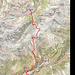Wegverlauf: Arosa, Alteinsee, Valbella Furgga, Sandhubel, Schmitten, Landwasserviadukt, Filisur