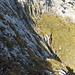 Die felsdurchsetzte Mulde in der mittleren Zuestoll-E-Flanke