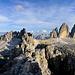 la Croda dei Toni a sx,il monte Paterno al centro,le tre cime di Lavaredo a dx