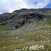 il costone con sopra la Bergstation Lagalb