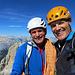 con Wilfried sulla vetta della cima Grande di Lavaredo
