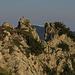 Abenteuerliche Konstruktion auf den Felsen am Zahn / costruzione strana sulle rocce vicino allo Zahn