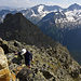 Nic mit Safari Hut auf einem weiteren Meientaler Gipfel, Miesplanggenstock 2875m.