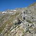 auf dem Grat entlang: Impressionen vom Aufstieg und gelegentlich ein Rückblick ....