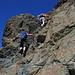 """Passaggi in arrampicata """"facile"""" su buona roccia"""