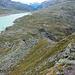 Im unteren Teil des Abstiegs, wo die Traverse auf den Nordgrat übergeht.
