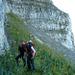 Ossi und ein unbekannter Velohelmträger Liebäugeln mit der Rauti Nordwand. Teilweise bombastischer Fels!