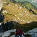 In der zweiten Steilstufe. Schöne Kletterei, gut abgesichert.