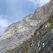 Wandblick vom Raupfad in die Südverschneidung, die leichteste Route am Rosenboden (5c max)<br />Foto: N.