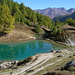 Der idyllische Lac Bleu oberhalb La Gouille/Satarma