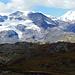 Die Gletscherzone um den Fuss des Piz Cambrena.