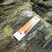 Ci sono numerosi pannelli che indicano la tipologia della roccia.