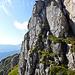 Kurze Kletterstelle beim Felsriegel nach dem P.2209m.