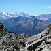 Aufstieg zur Btta Formazzöö - Klare Sicht zu den Walliser Viertausender, im Vordergrund die Hendar Furggu, 2419m