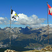 Auch rückwärts schauen lohnt sich. St. Moritz und Celerina im Tal.