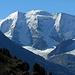 Willkommensgruss an einem herrlichen Engadiner Wandertag, der Piz Palü, gesehen von der Alp Languard.