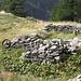 """<b>In prossimità dell'Alpe Saler mi imbatto in una sosta della cosiddetta Strada Antronesca.<br /><br />La """"Strada Antronesca"""" - Sosta del Saler<br />La """"Strada Antronesca"""", sul fondovalle ossolano si staccava dall'antica """"Via Francisca"""" che nel Medioevo era battuta dai mercanti lombardi per recarsi nella Svizzera centrale. I transiti commerciali vedevano venire dal Vallese bestiame e il famoso """"panno valesino"""" mentre dall'Ossola prendevano la via della montagna l'aspro vino prodotto sui terrazzamenti allo sbocco delle valli, il ferro estratto dalle miniere della Brevettola e gli oggetti di un artigianato povero ed essenziale. A questo c'è da aggiungere il sale, indispensabile per la conservazione degli alimenti. Con tutto questo ecco la necessità di dare luoghi di sosta alle bestie da soma lungo il percorso, quello del Saler rappresentava un comodo punto prima di intraprendere la parte terminale della salita al Passo di Saas a cui seguiva la discesa fino a Saas Grund, Saas Fee e Visp. </b><br />"""