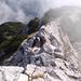 Auf dem Klettersteig - Gratwanderung